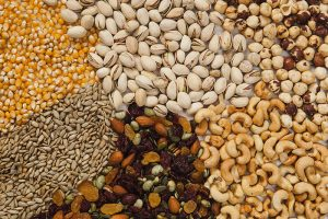 Semi di lino, semi di girasole, semi di papavero, semi di zucca, semi di sesamo