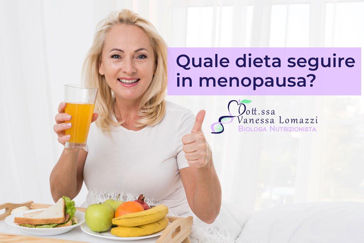 Donna Menopausa Cibo Dieta Alimenti