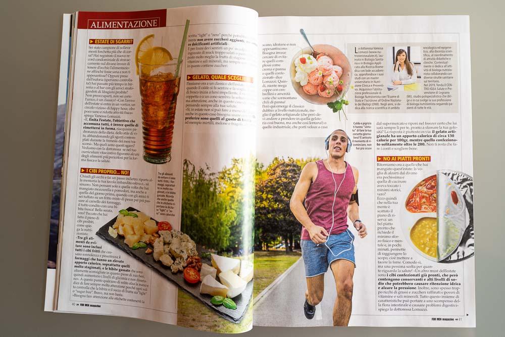 For men magazine Nutrizione Vanessa Lomazzi