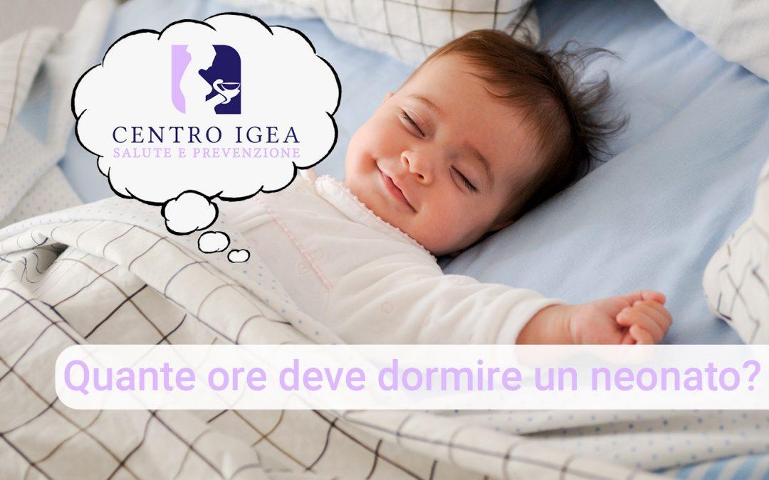 Quante ore deve dormire un neonato?